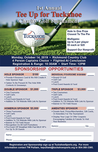 Tee Up for Tuckahoe Golf Tournament - Tuckahoe Sports